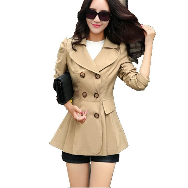 Ladies blouse Young women Trench coat Latest Fashion Long sleeve