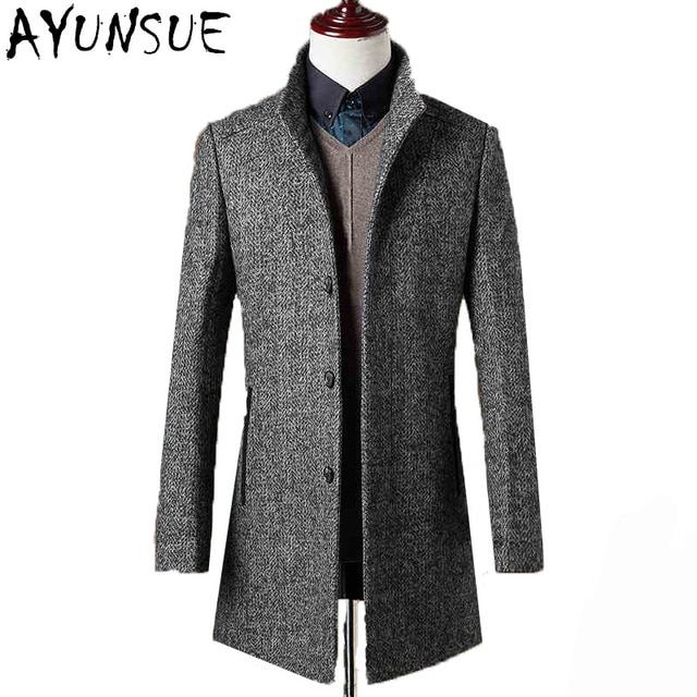 78% Woolen Overcoat Men Brand Clothing High Quality Mens Wool Coat