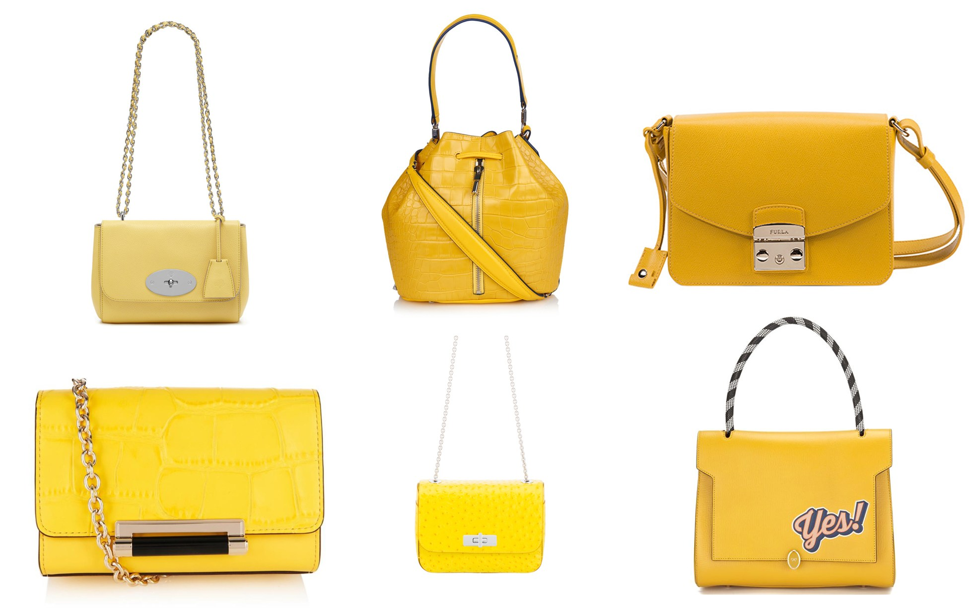Yellow handbags: the surprise hit of the summer