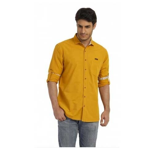 Teemper Men's Yellow Coloured Casual Shirt at Rs 777 /piece | Mens