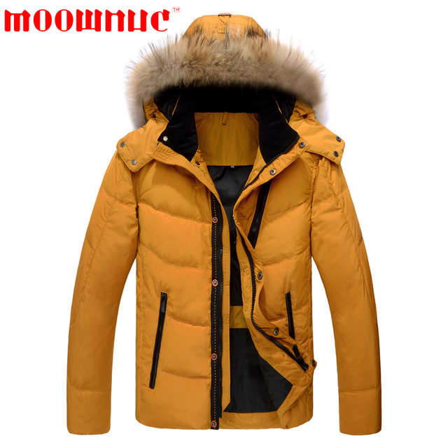 Down Coats Men Yellow Green Winter Coats White Duck Down Fashion