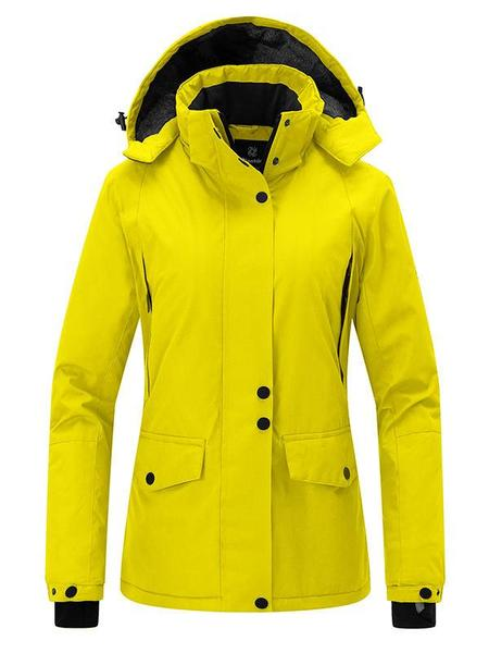 Women's Waterproof Ski Jacket Hooded Winter Parka Coats u2013 Wantdo