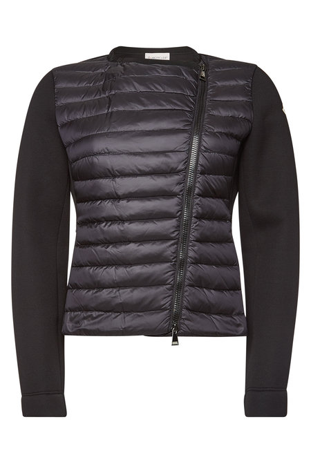 Moncler - Zipped Cardigan with Down Filling - black