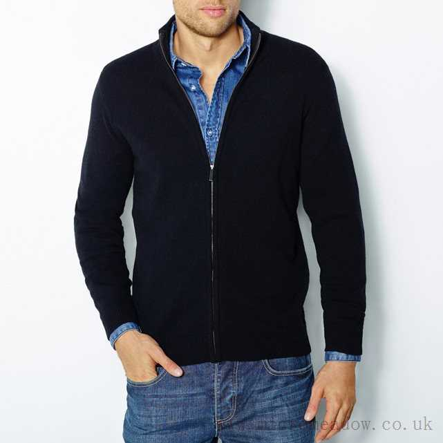 Cardigan Mens Pure Lambswool Zipped R Essentiel And Cardigan Free