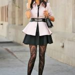 Cute patterned tights outfits