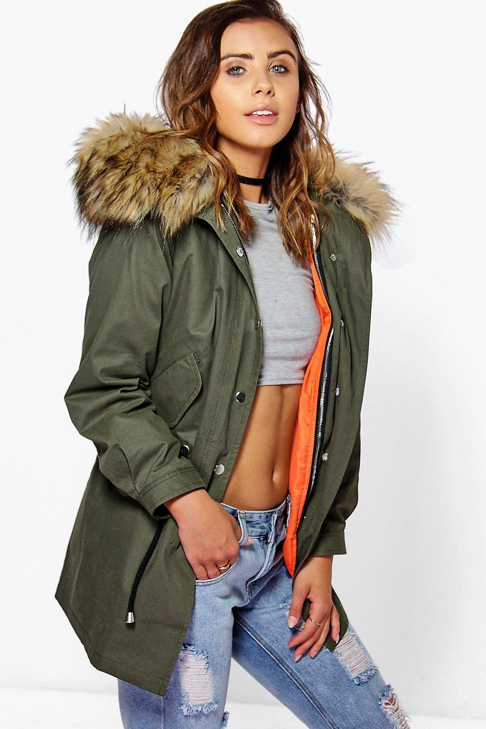 Buy Authentic store great discount Womens parka coats with fur hood – ChoosMeinStyle