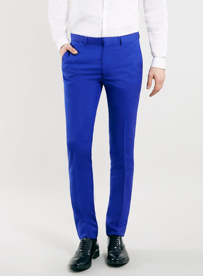 ... Topman Cobalt Blue Ultra Skinny Suit Pants ...