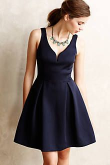 Pleated waist dress with cut out bodice detail. Note how pleats are tacked  at the