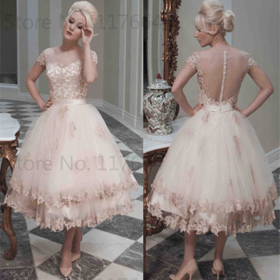 2016 Glamorous Cap Sleeve Applique Tulle Cocktail Dresses Girls