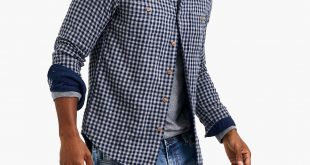 Slim double-layer shirt in gingham : FactoryMen Double Layer Shirt