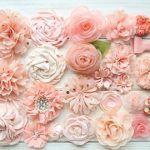 Fashion with fabric flowers