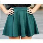 A green skirt – the color for the day!