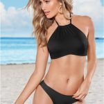 In which shapes can you buy the halter bikinis?