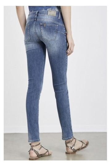 Liu.Jo bottom up slim leg jeans / Light wash WXX023D3164 | Enzo & Toto
