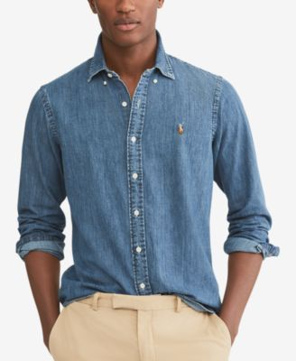 Polo Ralph Lauren Men's Classic-Fit Denim Shirt & Reviews - Casual