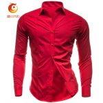 Red men's shirts for maritime and rocking outfits
