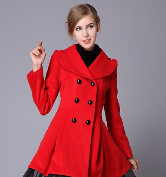 Red coat in any shape – from trench coat to duffle coat