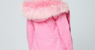 OFTBUY 2019 pink winter jacket women natural fur coat female parka